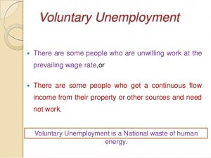 voluntary unemployment
