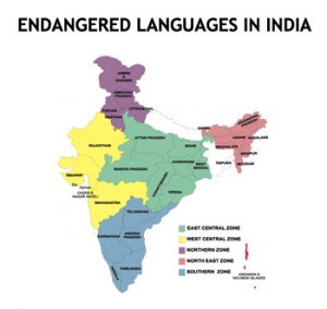 endangered language in india