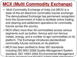 multi commodity exchange