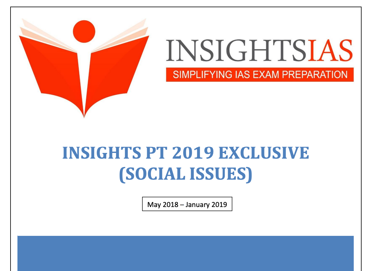 INSIGHTS REVISION MODULES: Social Issues Module for UPSC Civil